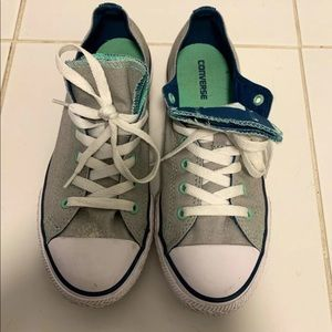 Gray and Teal Converse